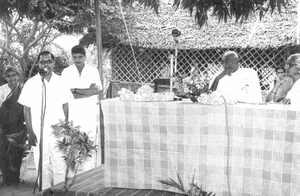 Kamaraj releases a souvenir at a function in 1965